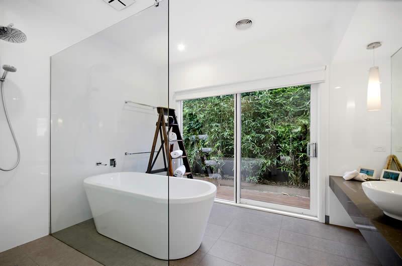 luxury bathroom Holiday rental accommodation Barwon Heads