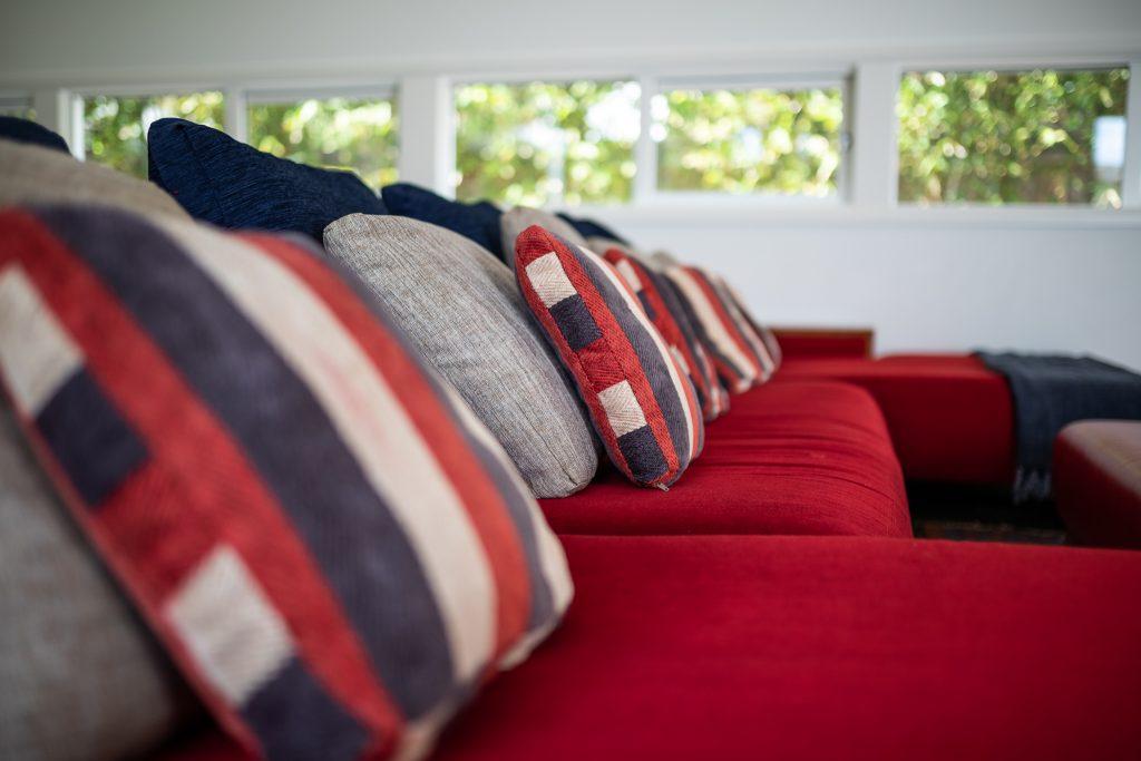 Massive sofa seats 8 guests